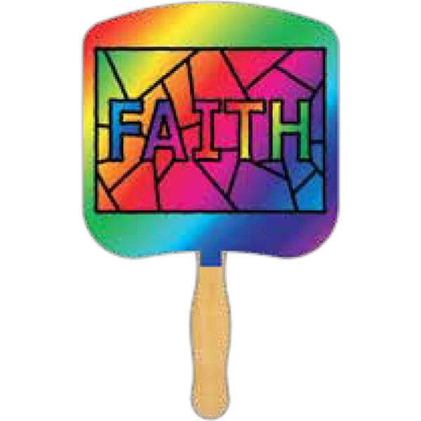 Faith Stained Glass - Religious Fan Photo