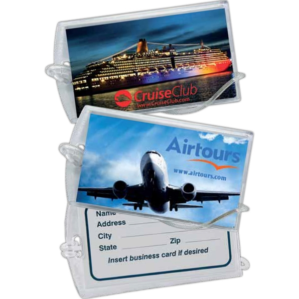 Clear Outer Shell Luggage Tag Photo