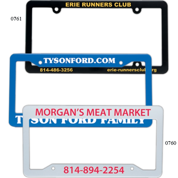 "License Plate Frame. 12 1/4"" X 6 1/4"" Photo"