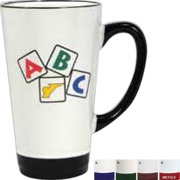 Hanover - Ceramic Mug With Base And Handle Accent Color, 16 Ounces Photo
