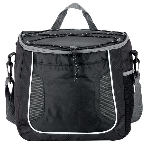 18-Can Cooler - Soft sided cooler, 18-can capacity, with zippered media tablet pocket.