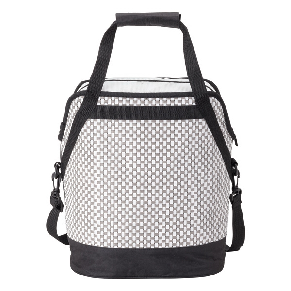 Oval cooler bag - Woven poly mesh fabric cooler bag, 20 can capacity.