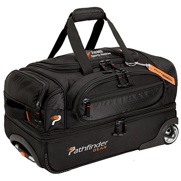 """Pathfinder 32"""" Rolling Duffel - Rolling duffel bag with telescopic hand and padded top handle, 22""""."""