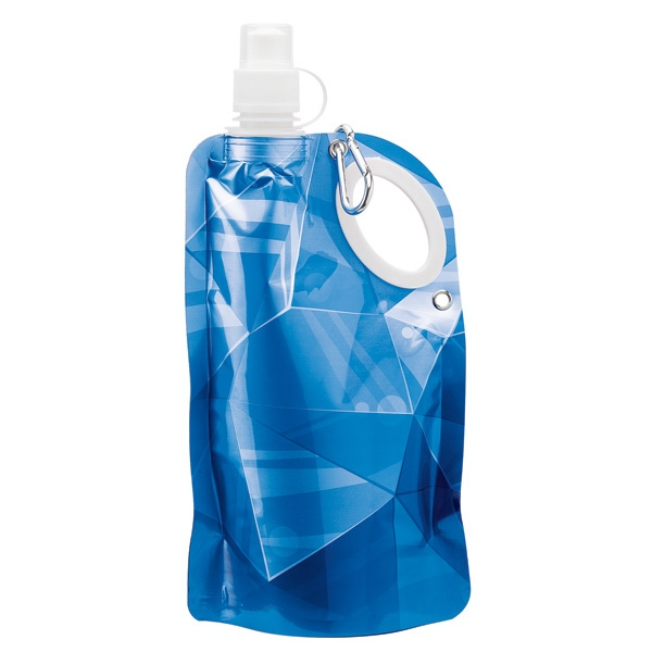 25 oz. PE Water Bottle - Roll-up water bottle with integrated carry handle, BPA-Free.