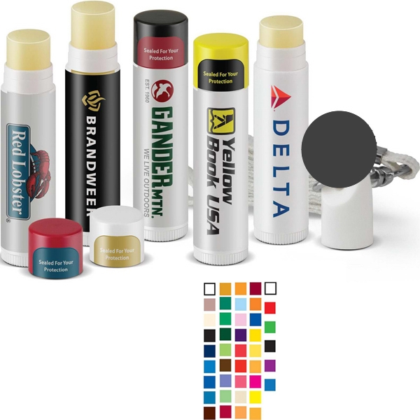 Fashion Flavored Spf15 Lip Balm Comes In A White Tube With A White Cap Photo