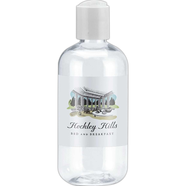 Empty Clear Bottle With Your Choice Of Push Top Lid Or Spray Top, 8 Oz. Bottle Photo