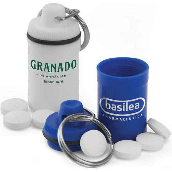Split Key Ring Pill Jar Is An Easy Way To Keep Your Medication On Hand Photo