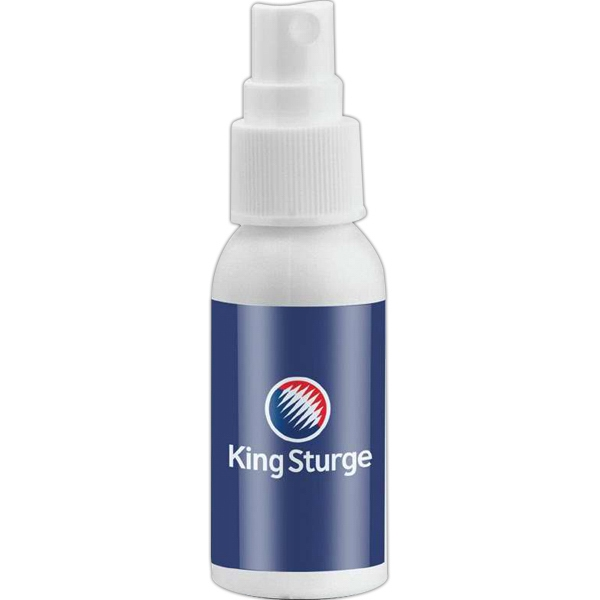 Empty White Bottle With Choice Of Secure Push Top Lid Or Spray Top, 1 Oz. Bottle Photo