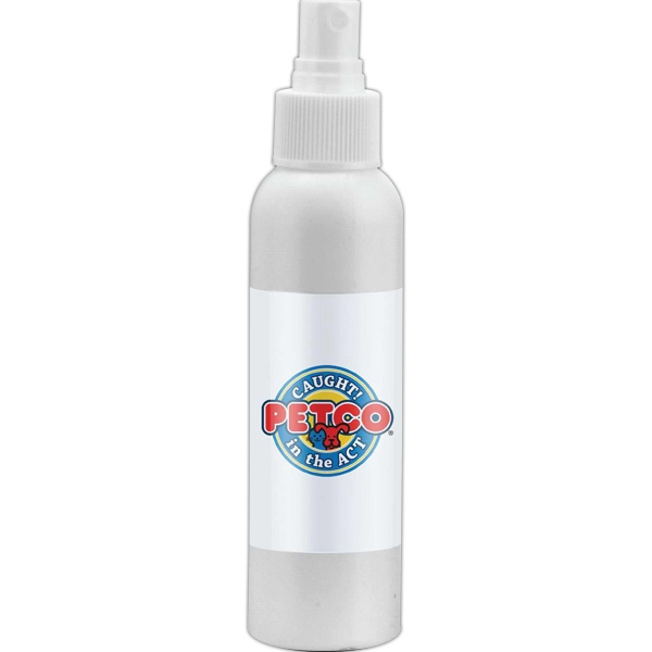 Empty White Bottle With Choice Of Secure Push Top Lid Or Spray Top, 4 Oz. Bottle Photo
