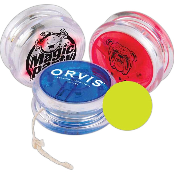Flashing Yo-yo Flashes Red As It Spins, Batteries Are Included And Installed Photo