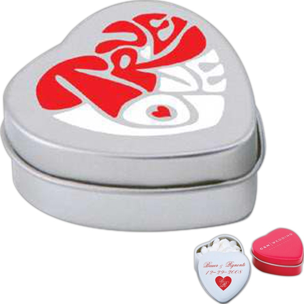 Mints - Small Heart Shaped Tin With Candy Fills Available Photo