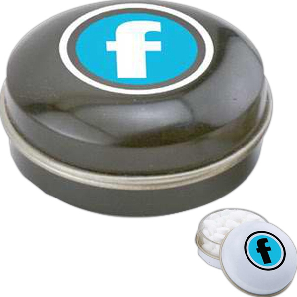 Corporate B Fills - Small Round Mint Tin With Your Choice Of Candy Fills Photo