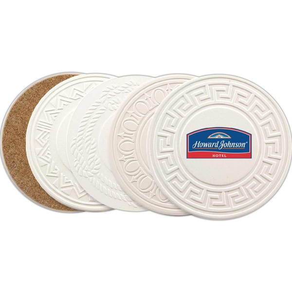 Greek Accented Aquaguard Coaster Made From Sandstone Photo