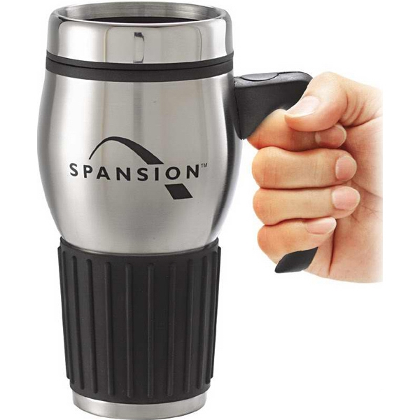 Exclusive Stainless Steel 16 Oz. Mug With Rubber Grip And Handle Photo