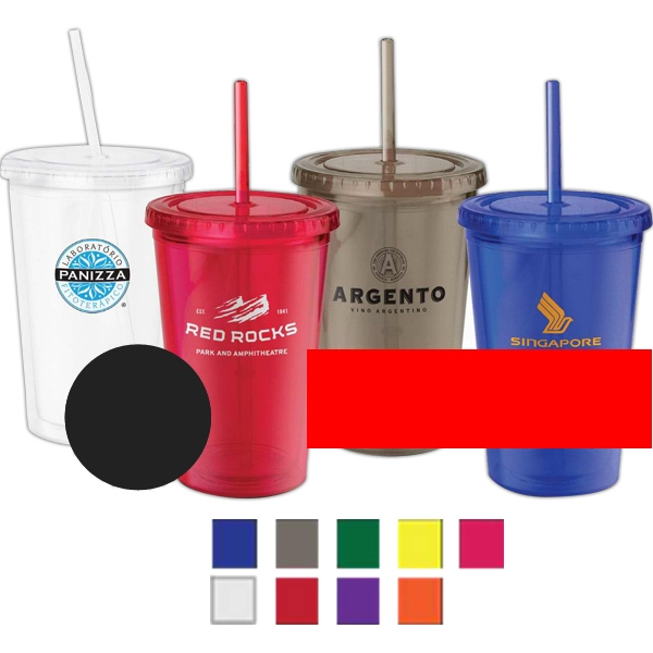 Plastic Translucent 18 Oz. Eco Friendly To Go Cup With Screw-on Spill Resistant Lid Photo