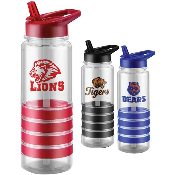 24 Oz Bpa Free Water Bottle With Accent Grips, Pull Up Spout And A Straw Photo
