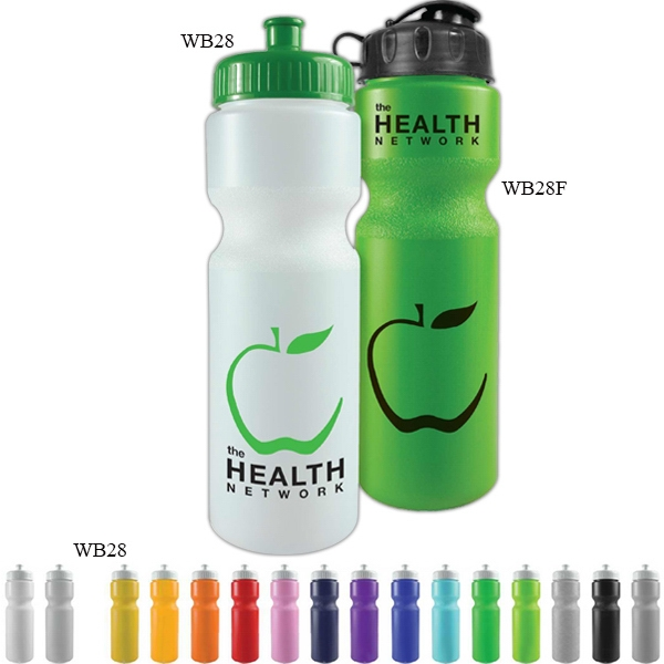 Personal Refillables (tm) - 28 Oz Sports Bottle With Push Pull Cap And Contour Grip Neck Photo