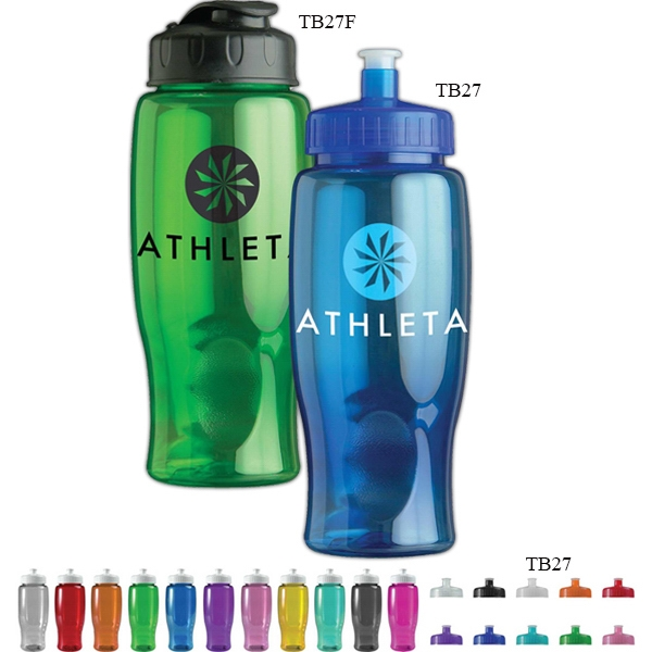 Personal Refillables (tm) - 27 Oz. Transparent Sports Bottle Photo