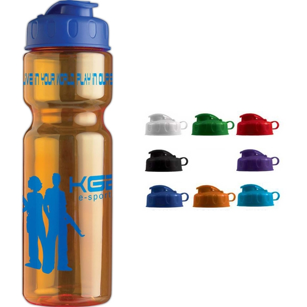 Personal Refillables (tm) - Transparent Bottle With A Flip Top Lid, 28 Oz Photo