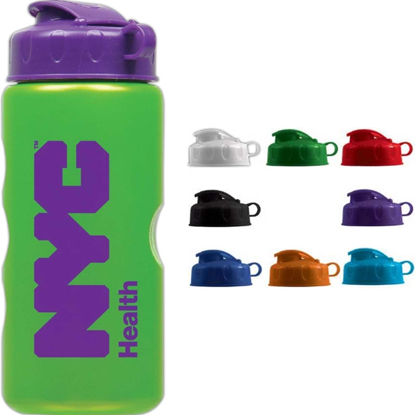 Personal Refillables (tm) - Metallic Looking 22 Oz. Bottle, Bpa Free, With Flip Top Lid Photo
