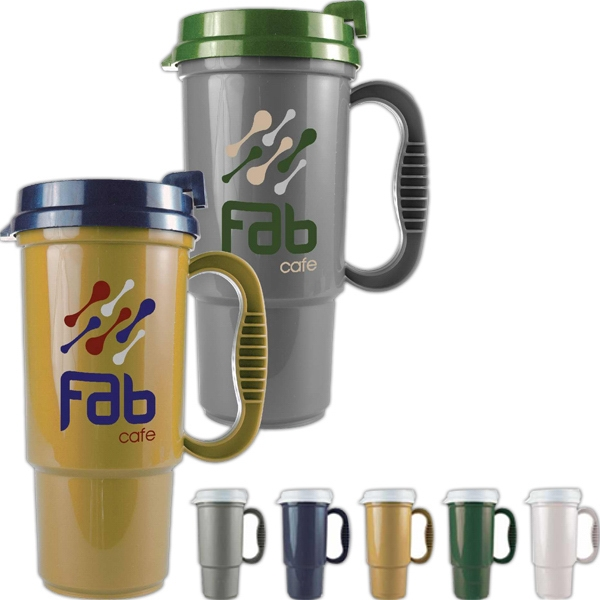 Personal Refillables (tm) - Insulated 16 Oz. Auto Mug, Bpa Free, Home Recycled Polypropylene Photo