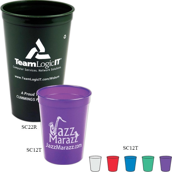 12 Oz. Translucent Smooth-sided Stadium Cup Photo