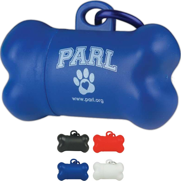 Dog Pickup Bag Dispenser In Shape Of A Bone Photo