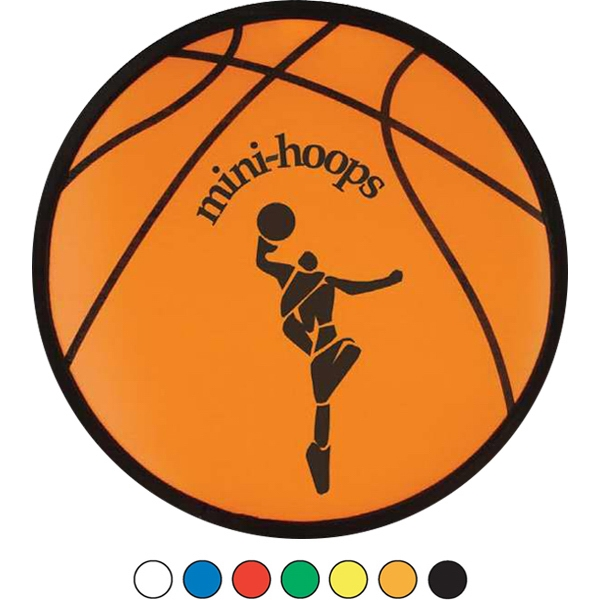"Basketball Sport Flyer - Folding Sport Flyer. Ten Inch Flexible Folding Flyer Folds To Fit In A 3 1/2"" X 4"" Photo"