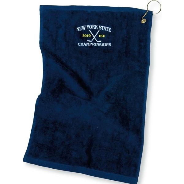 Embroidered Golf Towel - Embroidered Golf Towel.