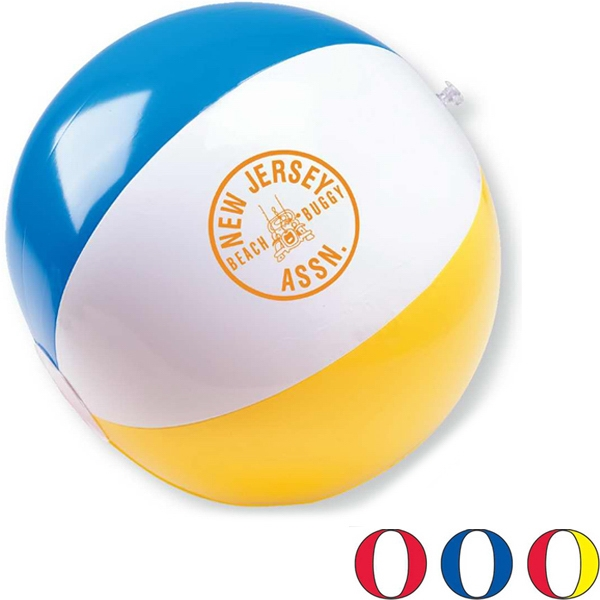 "Inflatable Multi Color 11"" Beach Ball. Adds Bounce To Summer Promotions Photo"
