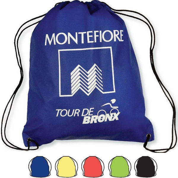 "Non Woven Drawstring Backpack Bag, 15"" X 18"" Size Photo"