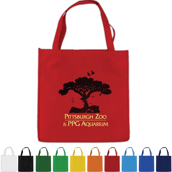 "Non-woven Polypropylene Economy Tote, 13"" X 13"" With A 18"" Handle Photo"