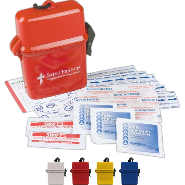 Large Neck Tote First Aid Kit With Bandages, Ointments And More Photo