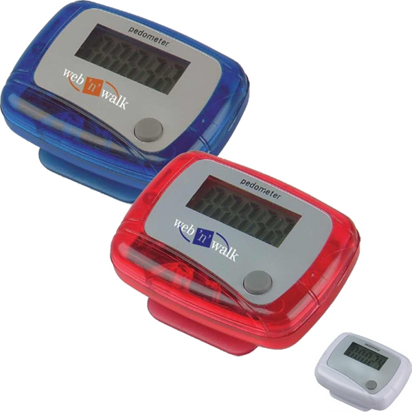 Pedometer - Pedometer with belt clip.