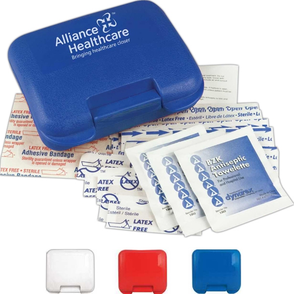 Pocket First Aid Kit With 6 Bandages, 3 Antiseptic Towelettes And More Photo