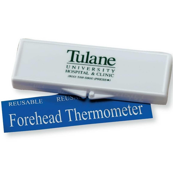 Forehead Thermometer Kit In A White Plastic Hinged Case Photo
