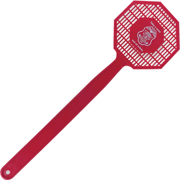 "Stop Sign - Shaped Fly Swatter, 16"", Molded In Flexible Polyethylene For Increased Durability Photo"