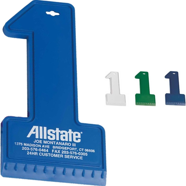 Classic Number One Shaped Ice Scraper Photo