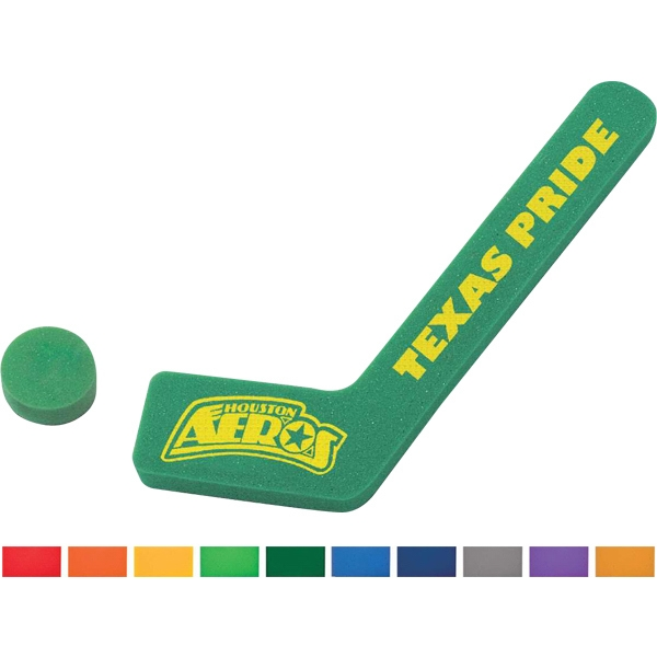 Foam Hockey Stick And Puck Photo