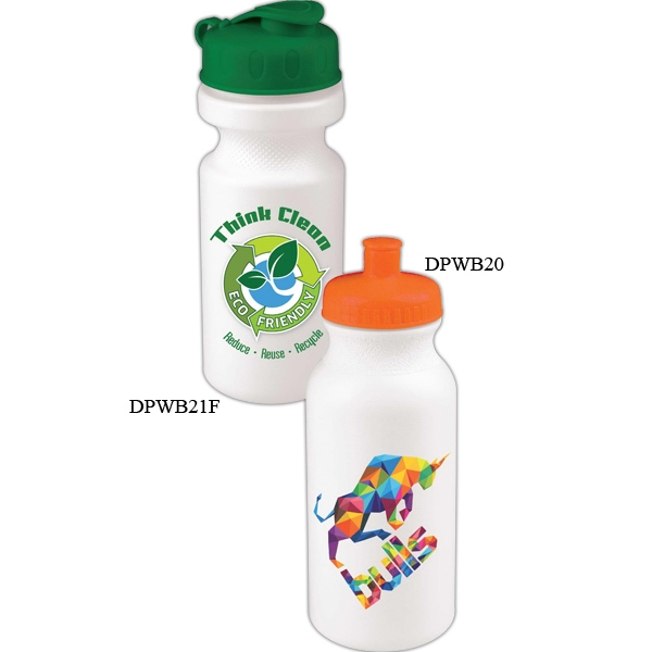 Personal Refillables (tm) - 20 Oz. Bike Bottle With Push Pull Cap With Full Color Digital Imprint Photo