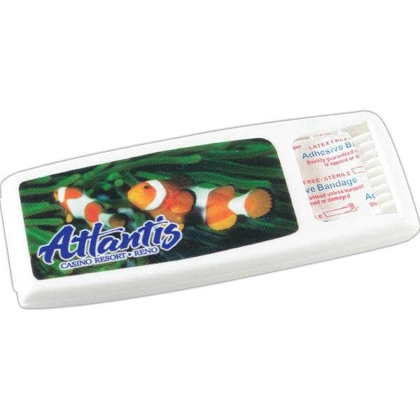 Bandage Dispenser - Bandage Dispenser with full color digital imprint.