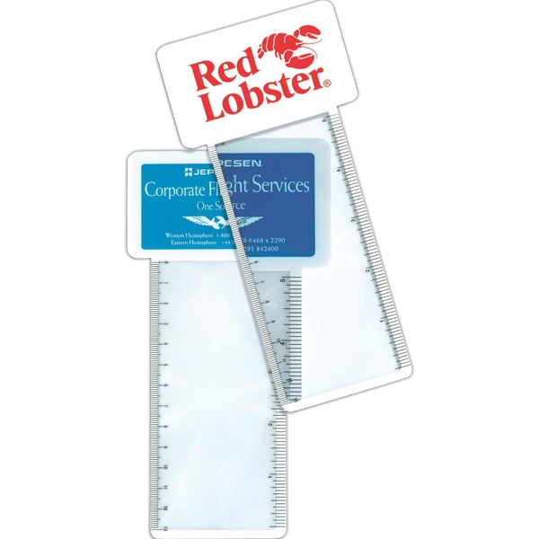 Business Card Magnifier, Ruler And Bookmark Photo