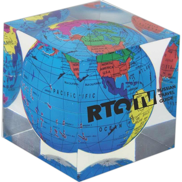Acrylic Cube Paperweight Photo