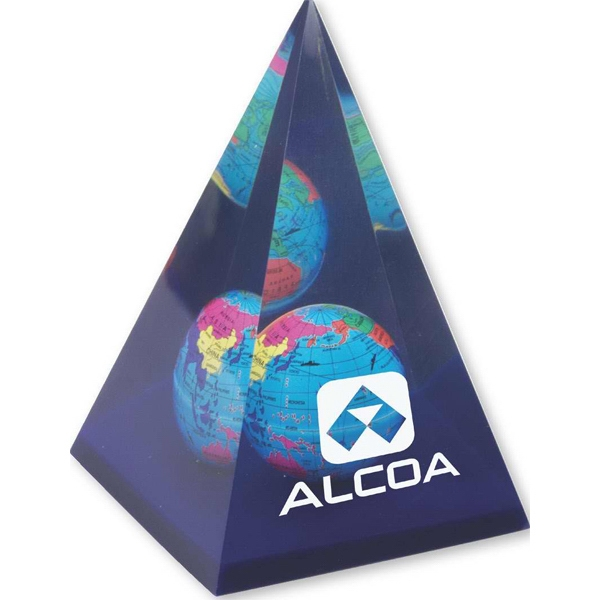 Pyramid Globe Paperweight Photo