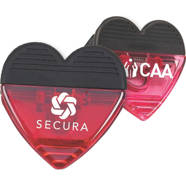Magnetic Heart Shaped Clip Photo