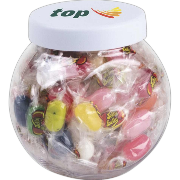 Mini Clear Candy Jar With White Lid Photo