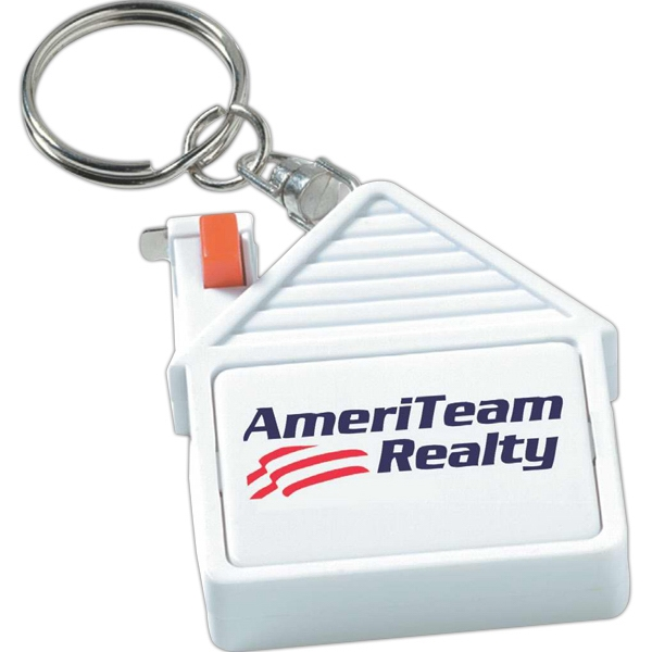 House Shaped Tape Measure Key Tag Photo