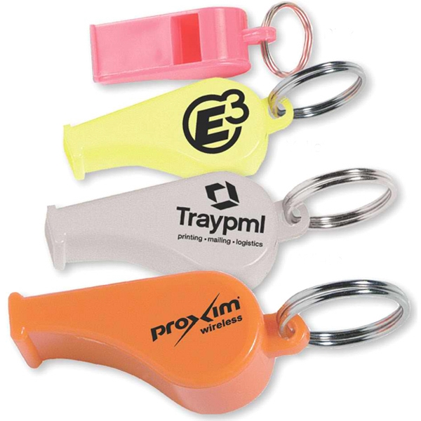 Whistle key ring - Whistle with key ring.