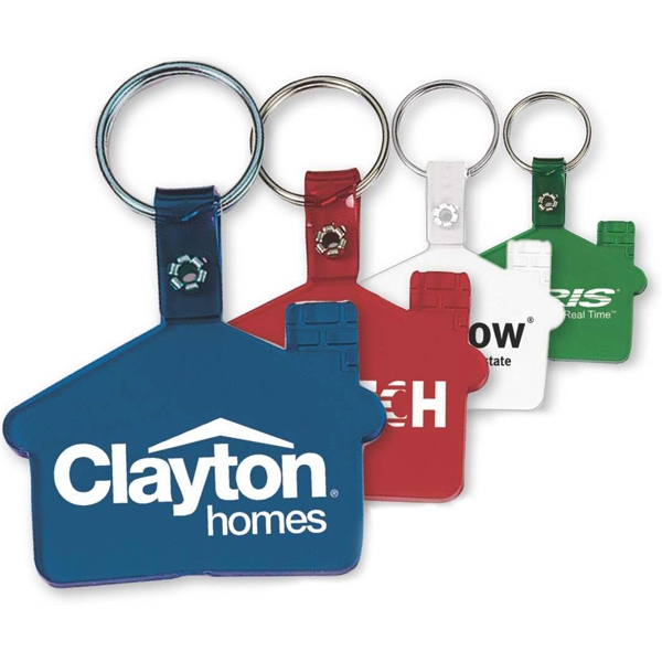 House Shaped, Vinyl Key Tag Photo