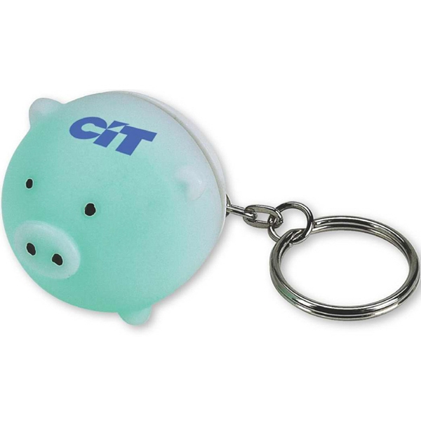 Pig Shaped Key Chain With Mood Light Photo